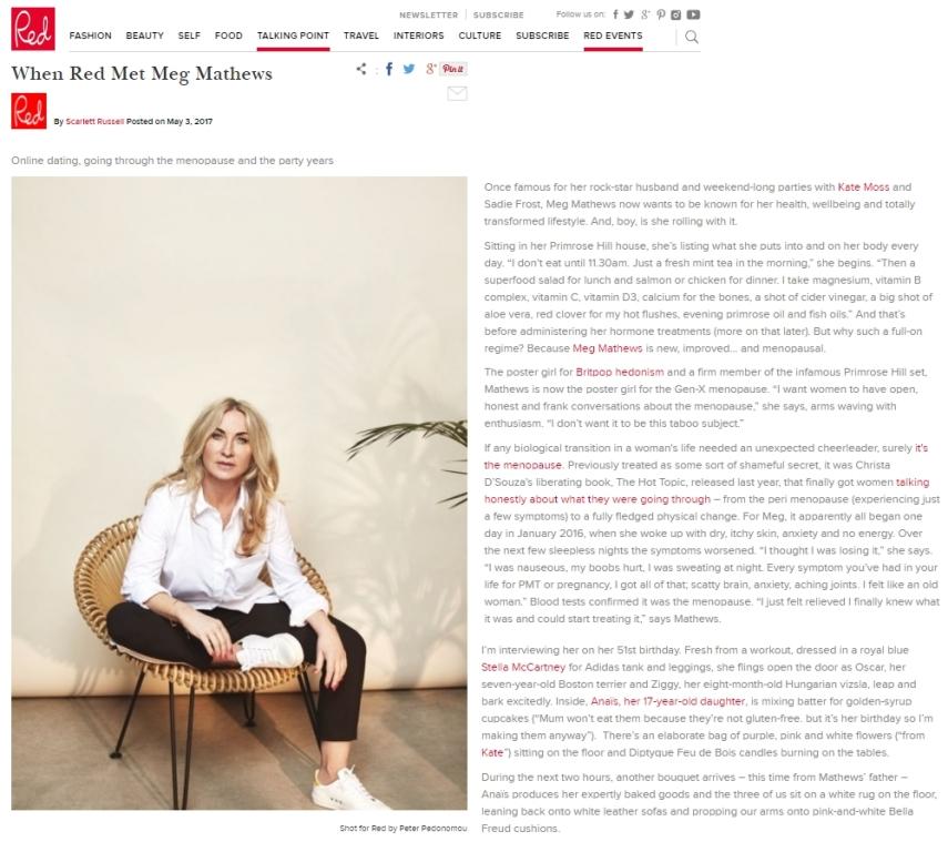 Meg Matthews et la ménopause