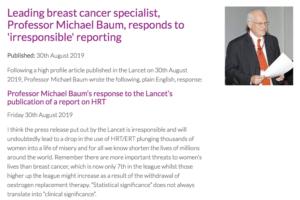 Réponse d'une sommité spécialiste du cancer du sein aux conclusions de l'étude Lancet